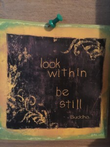 look within be still